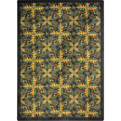 "Kaleidoscope - Whimsical Area Rugs Tahoe, 3'10"" x 5'4"", Dark Timber"