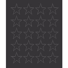 """3/4"""" black magnetic stars 20/pk"""