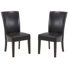 Montecito Brown Bonded Leather Side Chair (Set Of 2)