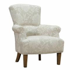 Barstow Accent Chair In Cream Flower Fabric