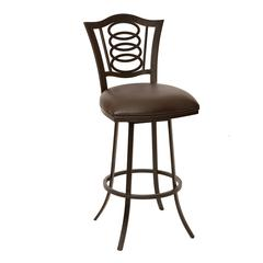 "Essex 26"" Transitional Barstool In Coffee and Auburn Bay Metal"