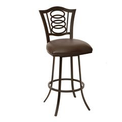 """Essex 30"""" Transitional Barstool In Coffee and Auburn Bay Metal"""