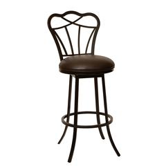 "Galvin 26"" Transitional Barstool In Coffee and Auburn Bay Metal"
