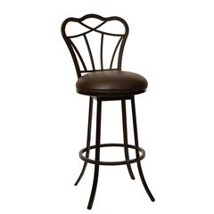 """Galvin 30"""" Transitional Modern Barstool In Coffee and Auburn Bay Metal"""
