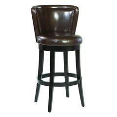 "Lisbon 26"" Swivel Barstool/ Brown Leather Mbs-11"