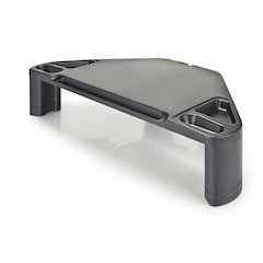 Corner Monitor/Laptop Stand w/Smart Device Slot