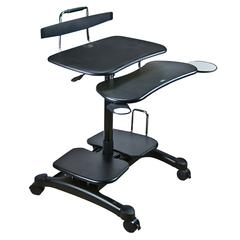Sit/Stand Mobile PC Workstation