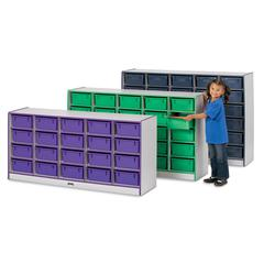25 Tub Mobile Storage - without Tubs - Blue