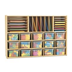 Sectional Cubbie Storage - with Clear Trays