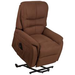Brown Micorfiber Remote Powered Lift Recliner