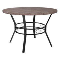 """45"""" Round Dining Table in Distressed Gray Wood Finish"""