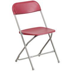 800 lb. Capacity Premium Red Plastic Folding Chair