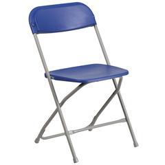 800 lb. Capacity Premium Blue Plastic Folding Chair