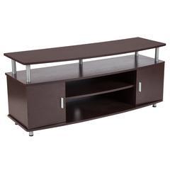 Espresso Wood Finish TV Stand