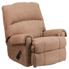 Contemporary Victory Lane Taupe Fabric Rocker Recliner