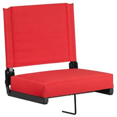 Grandstand Comfort Seats with Ultra-Padded Seat in Red