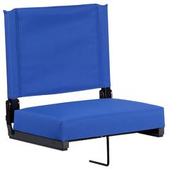 Grandstand Comfort Seats with Ultra-Padded Seat in Blue