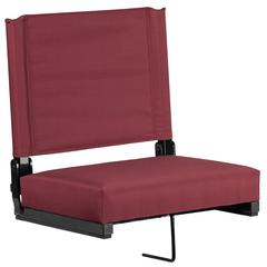 Grandstand Comfort Seats with Ultra-Padded Seat in Maroon