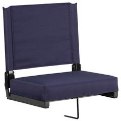 Grandstand Comfort Seats with Ultra-Padded Seat in Navy