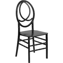 HERCULES Series Black Resin Stacking Phoenix Chair