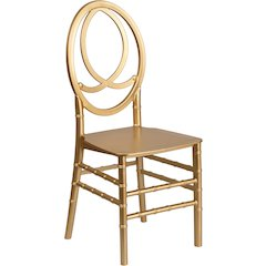 HERCULES Series Gold Resin Stacking Phoenix Chair