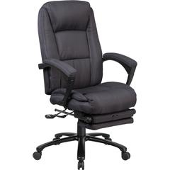 High Back Gray Fabric Executive Reclining Swivel Office Chair with Comfort Coil Seat Springs and Padded Armrests