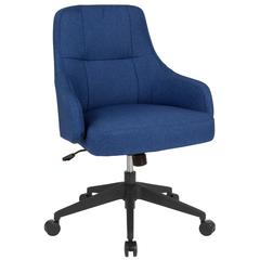 Dinan Home and Office Upholstered Mid-Back Chair in Blue Fabric
