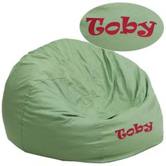 Personalized Oversized Solid Green Bean Bag Chair