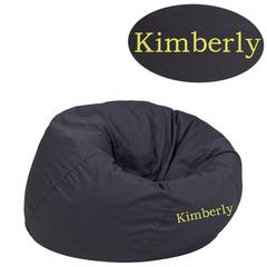 Personalized Small Solid Gray Kids Bean Bag Chair
