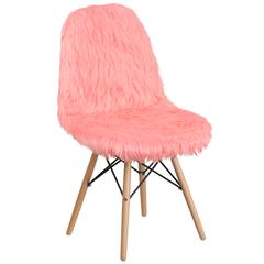 Shaggy Dog Hermosa Pink Accent Chair