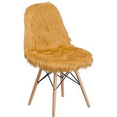 Shaggy Dog Beige Accent Chair