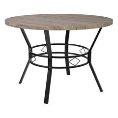 """Tremont 45"""" Round Dining Table in Distressed Gray Wood Finish"""