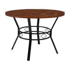 """Tremont 42"""" Round Dining Table in Swirled Chocolate Marble-Like Finish"""