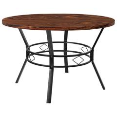 """Tremont 47"""" Round Dining Table in Swirled Chocolate Marble-Like Finish"""