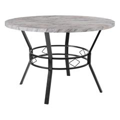 """Tremont 45"""" Round Dining Table in Distressed Slate Finish"""