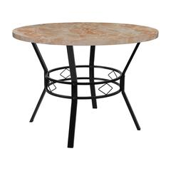 """Tremont 42"""" Round Dining Table in Quartz Marble-Like Finish"""