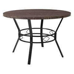 """Tremont 45"""" Round Dining Table in Espresso Wood Finish"""