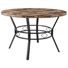 """Tremont 47"""" Round Dining Table in Swirled Marble-Like Finish"""