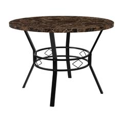 """Tremont 42"""" Round Dining Table in Espresso Marble-Like Finish"""