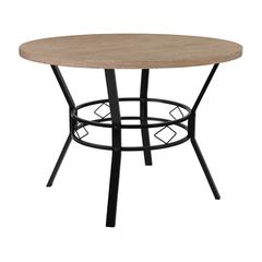 """Tremont 42"""" Round Dining Table in Bleached Sandstone-Like Finish"""