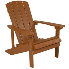 Charlestown All-Weather Adirondack Chair in Teak Faux Wood