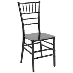 HERCULES Series Black Resin Stacking Chiavari Chair