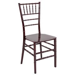 HERCULES Series Mahogany Resin Stacking Chiavari Chair