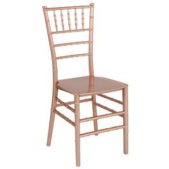 HERCULES Series Rose Gold Resin Stacking Chiavari Chair