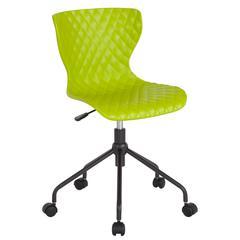 Brockton Contemporary Design Citrus Green Plastic Task Chair