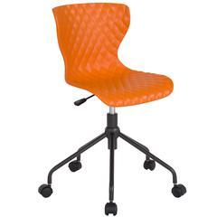 Brockton Contemporary Design Orange Plastic Task Chair