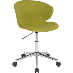 Cambridge Home and Office Upholstered Mid-Back Chair in Citrus Green Fabric