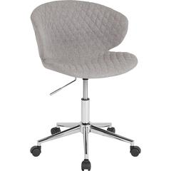 Cambridge Home and Office Upholstered Mid-Back Chair in Light Gray Fabric