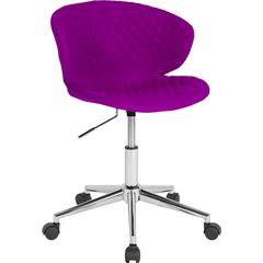Cambridge Home and Office Upholstered Mid-Back Chair in Purple Fabric
