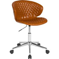 Cambridge Home and Office Upholstered Mid-Back Chair in Saddle Vinyl